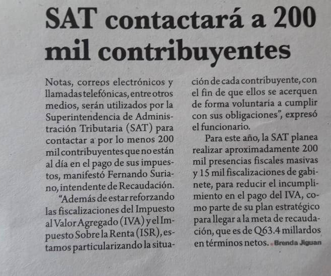 Auditorías SAT